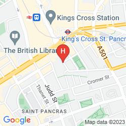 Mappa COMFORT INN & SUITES KING'S CROSS - ST. PANCRAS