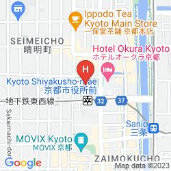 Mappa HYATT REGENCY KYOTO
