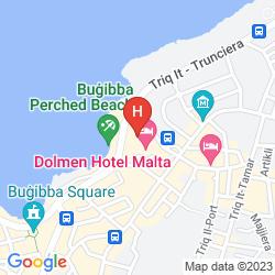 Mappa DOLMEN HOTEL MALTA
