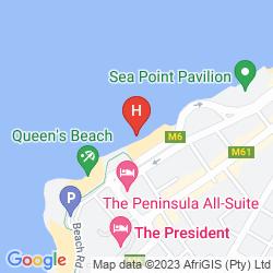 Mappa 40 WINKS SEA POINT LODGE