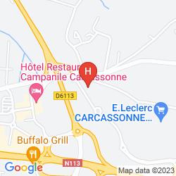 Mappa BRIT HOTEL BOSQUET