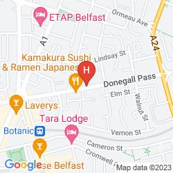 Mappa PREMIER INN BELFAST CITY CENTRE (ALFRED STREET)