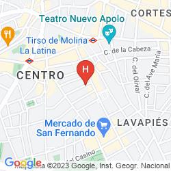 Mappa APARTAMENTOS H2 TIRSO DE MOLINA