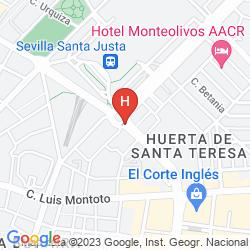 Mappa AYRE HOTEL SEVILLA