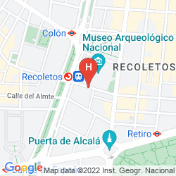 Mappa APARTMENTOS RECOLETOS
