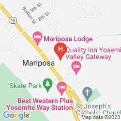 Mappa QUALITY INN YOSEMITE VALLEY GATEWAY