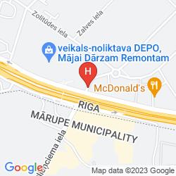 Mappa BEST WESTERN HOTEL MARA