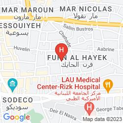 Mappa RADISSON BLU MARTINEZ HOTEL, BEIRUT
