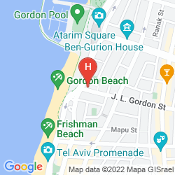 Mappa GORDON HOTEL & LOUNGE