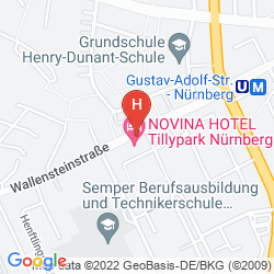 Mappa HOTEL NOVINA TILLYPARK