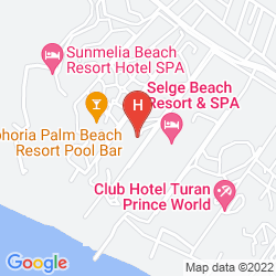 Mappa JUSTINIANO WISH SIDE HOTEL