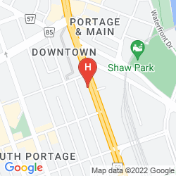 Mappa HUMPHRY INN & SUITES WINNIPEG
