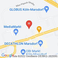 Mappa PREMIERE CLASSE KÖLN-WEST