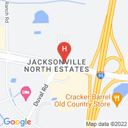 Mappa RED ROOF INN JACKSONVILLE AIRPORT