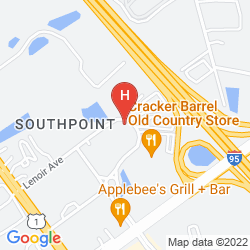 Mappa RED ROOF INN JACKSONVILLE SOUTHPOINT
