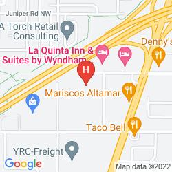 Mappa HAMPTON INN & SUITES ALBUQUERQUE COORS ROAD