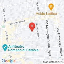 Mappa SANTUZZA HOTEL CATANIA