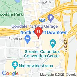Mappa HAMPTON INN AND SUITES COLUMBUS DOWNTOWN
