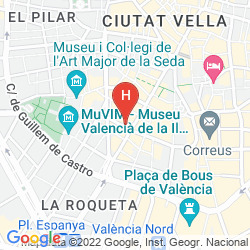 Mappa CASUAL VALENCIA DE LA MÚSICA (FORMERLY CASUAL HOTEL FLORIDA)