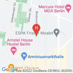 Mappa AMSTEL HOUSE HOSTEL BERLIN
