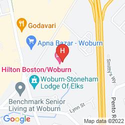 Mappa HILTON BOSTON - WOBURN