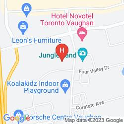 Mappa NOVOTEL TORONTO VAUGHAN
