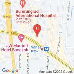 Mappa BOULEVARD HOTEL BANGKOK