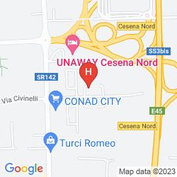 Mappa UNAWAY HOTEL CESENA NORD