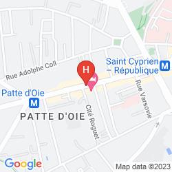 Mappa APARTHOTEL ADAGIO ACCESS TOULOUSE SAINT CYPRIEN