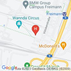 Mappa B&B HOTEL MÜNCHEN NORD