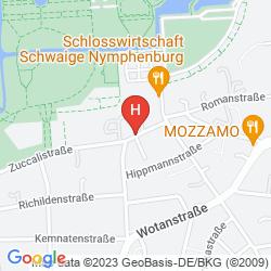 Mappa LAIMER HOF AM SCHLOSS NYMPHENBURG