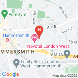 Mappa NOVOTEL LONDON WEST
