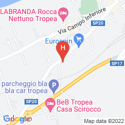 Mappa HOTEL ORIZZONTE BLU