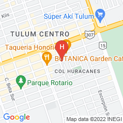 Map CABAÑA LOS LIRIOS TULUM