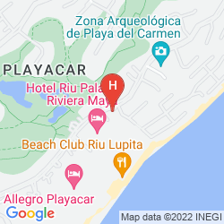 Map THE REEF PLAYACAR ALL INCLUSIVE