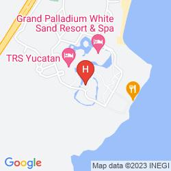 Map TRS YUCATAN HOTEL