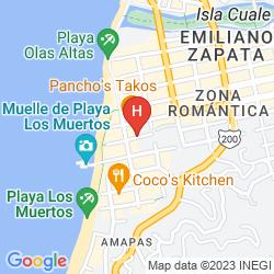 Map CASA DOÑA SUSANA HOTEL ANTES ARCOS VALLARTA