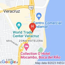 Map SUITES MEDITERRANEO VERACRUZ