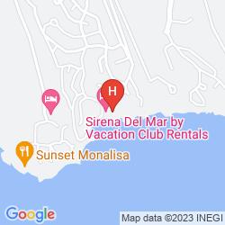 Map WELK RESORTS SIRENA DEL MAR