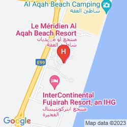 Map LE MÉRIDIEN AL AQAH BEACH RESORT