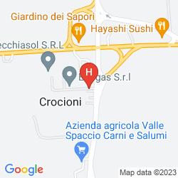 Map CROCIONI HOTEL RIZZI