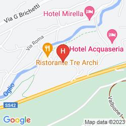 Map BLU HOTEL ACQUASERIA