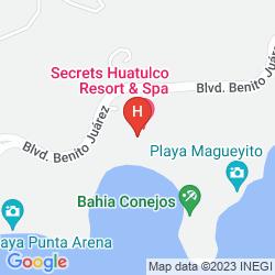 Map SECRETS HUATULCO RESORT & SPA