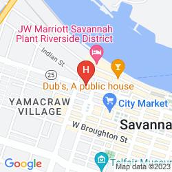Map BEST WESTERN PLUS SAVANNAH HISTORIC DISTRICT