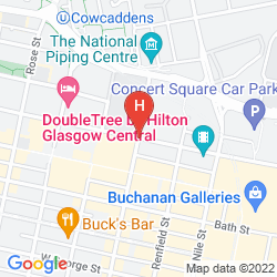 Map TRAVELODGE GLASGOW CENTRAL