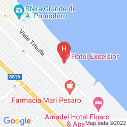 Map EXCELSIOR HOTEL PESARO