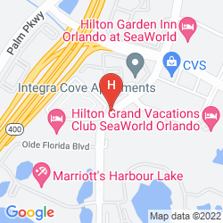 Map RESIDENCE INN ORLANDO AT SEAWORLD