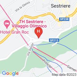 Map VILLAGGIO OLIMPICO SESTRIERE