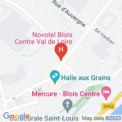 Map NOVOTEL BLOIS CENTRE VAL DE LOIRE
