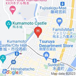 Map KUMAMOTO HOTEL CASTLE